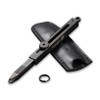"CIVIVI Tac-N-Tweeze 19062B-A, 1.77"" Black Stainless Steel Stonewashed Tweezers, Black Brass Handles"