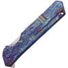 """Olamic Cutlery Rainmaker - Entropic Blue/Purple Ti (4.25"""" Harpoon)"""