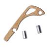 Flytanium Brass Backspacer - for Benchmade Mini Bugout