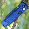 """Benchmade 4400SBK-1 CASBAH Auto, 3.4"""" CPM-S30V Black Combo Blade, Blue Textured Grivory Handles"""