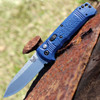 Benchmade 4400-1 CASBAH Auto, 3.4 in CPM-S30V Plain Blade, Blue textured Grivory Handles