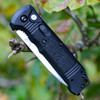 Benchmade 4400 CASBAH Auto, 3.4 in CPM-S30V Plain Blade, Black textured Grivory Handles