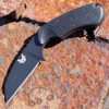 "Benchmade 125BK AZERIA, 2.9"" N680 Black Plain Blade, Black Grivory Handle"