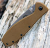 "BRK Zancudo  BRKR2CB, 2.94"", Stonewash D2 Steel, Design by Esee Knives, Drop point, Coyote Brown Nylon handles"