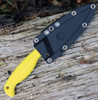 "Spyderco FB40SYL Fish Hunter, 4.39"" H-1 Serrated, Yellow FRN Handle"