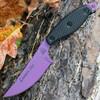 TOPS Knives LIONELT Lioness Elite, Purple Cerakote Blade, Black G10 Handles, Black Kydex Sheath