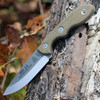 "TOPS Knives MSKTBF, MSK Rockies Edition, 3"" Tumble Blade, Green Canvas Micarta Handle"
