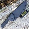 Tops Knives TIH-02 IDAHO HUNTER SRE, Black River Wash Blade, Black Micarta Handles