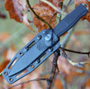 Benchmade 133BK Fixed Infidel, 4.52 in D2 Steel, Black Anodized Aluminum Handle