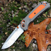 "Benchmade Hunt 15061 Grizzly Ridge, 3.5"" CPM-S30V Plain Blade, Gray/Orange Grivory Handle"