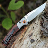 "Benchmade Hunt 15085-2 Mini Crooked River, 3.4"" CPM-S30V Plain Blade, Contoured Wood Handle"