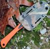 """Benchmade Hunt 15200ORG Altitude, 3.08"""" CPM-S90V Plain Blade, Carbon Fiber-G-10 Handle"""