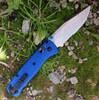 """Benchmade Bugout 535S, 3.24"""" CPM-S30V Serrated Blade, Blue Grivory Handle"""