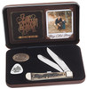 Case 48260 Zac Brown Band Trapper Gift Set, Smooth Natural Bone Handle (6254 SS)