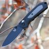 "Benchmade 565BK Mini Freek, 3"" CPM-S30V Plain Blade, Black/Gray Grivory Handle"