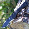 "Benchmade 407SBK Vallation, 3.7"" CPM-S30V Serrated Black Blade, Black Aluminum Handle"