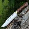 "Bark River 10114MNC Vidarr, 6.4"" A-2 Plain Blade, Natural Canvas Micarta Handle"
