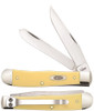 Case 30114 Trapper w/Clip, Yellow Synthetic Handle CV (3254C CV)