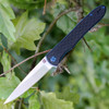 "Artisan ATZ1707PBK Shark, 3.94"" D2 Steel Plain Blade, Black G-10 Handle"