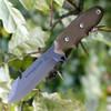 "TOPS Backpacker's Bowie Knife BPB-01, 4.50"" 1095 Carbon Steel Blade, Green Canvas Micarta Handle"