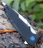 "Artisan Predator ATZ1706PBK, 3.74"" D2 Steel, Black G-10 Handle"