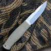 "Benchmade 200 PUUKKO, 3.75"" CPM-3V Satin Blade, Green Santoprene Handle, Black Leather Sheath"