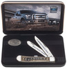 Case 14314 Ford F-150 Trapper Gift Set, Smooth Natural Bone Handle (6254 SS)