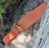 "Bark River Marauder I Bowie 16151MBL, 6.38"" CPM 154 Polish Blade, Black Canvas Micarta Handle"