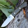 "Bark River 02116MGC Classic Drop Point Hunter, 3.7"" A-2 Steel, Green Canvas Micarta"