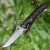 "We Knife 819A Drakon Framelock, 3.45"" Satin Bohler M390 Plain Blade, Bronze Titanium Handle"