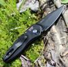 "ProTech 2937 Sprint, 2"" S35VN Spear Point Blade, Black 3D Wave Aluminum Handle"