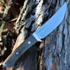 "Bark River 02145MGC Classic Trailing Point Hunter, 4.5"" CPM 154 Plain Blade, Green Canvas Micarta Handle"