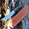 "Bark River 02145MGC Classic Trailing Point Hunter, 4.5"" CPM 154 Plain Blade, Green Canvas Micarta Handle"