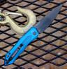 """Kershaw 7800BLUBLK Launch #6 Auto, 3.75"""" CPM154 Black Plain Blade, Blue Anodized Aluminum Handle"""