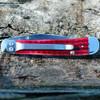 Case 10306 Kickstart TrapperLock A/O, Pocket worn Old Red Bone Handle (6154AC SS)