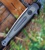 "Kershaw 7150 Launch 8, 3.5"" CPM 154 Plain Blade, Gray Aluminum/Carbon Fiber Insert Handle"