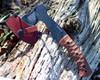 ESEE Gibson Axe, 1095 Steel Tumbled Black Oxide, Micarta Handle
