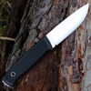 "Fallkniven F1LCoS Military Survival Knife, 3.81"" Lam.CoS Satin Blade, Thermorun Handle, Leather Shaeth"