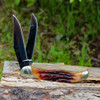 """Rough Ryder 1804 Folding Hunter, 4"""" 440A SS Blade, Brown Stag Bone Handle"""