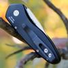 """Pro-Tech Sprint 2936, 2.00"""" Stonewash CPM-S35VN Blade, 6061-T6 Aluminum 3D Wave Black Handle"""