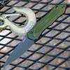 "Kershaw 7800OLBLK Launch #6 Auto, 3.75"" CPM154 Black Plain Blade, Olive Green Aluminum Handle"
