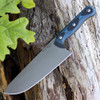 TOPS Dicer 8-3 Combo DCR-83, Paring & Chef Knife W/S35VN Steel, Black Canvas Micarta/Blue-Black G10 Handle