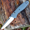 Benchmade Barrage G10 Folder 580-2, 3.6 in. CPM-S30V Blade, Gray Handle, Plain Edge