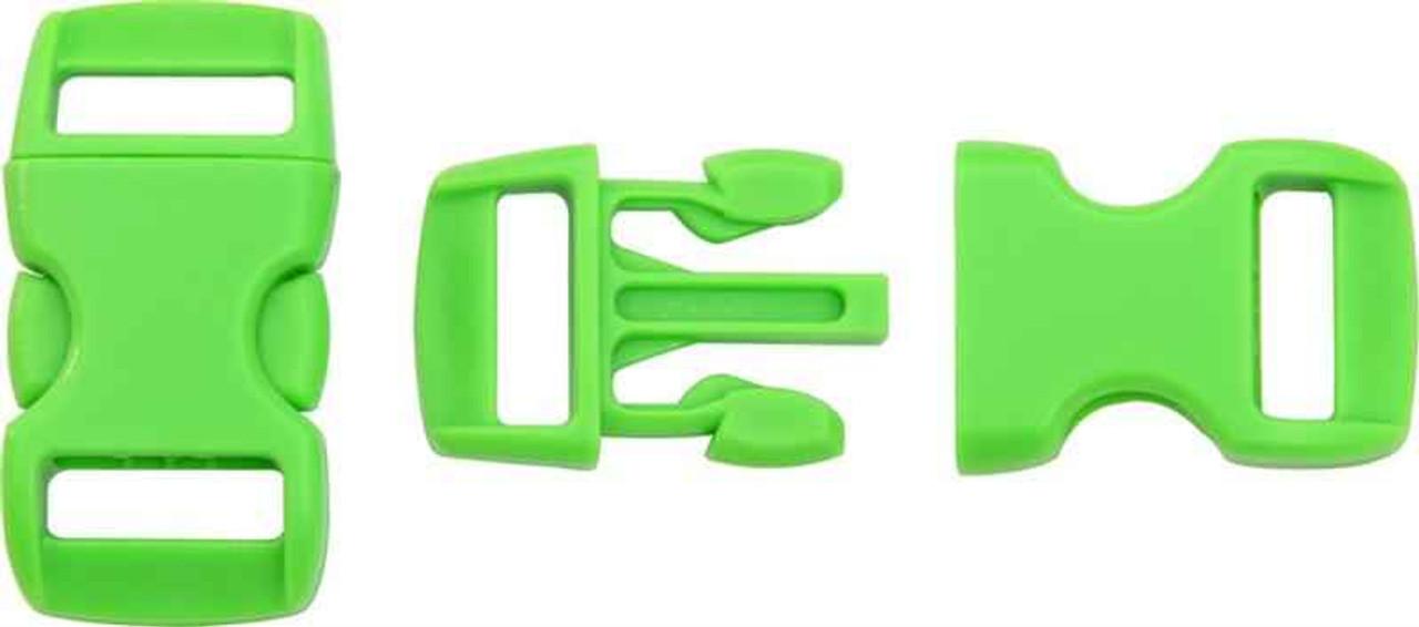 Knotty Boys Buckle. Neon Green
