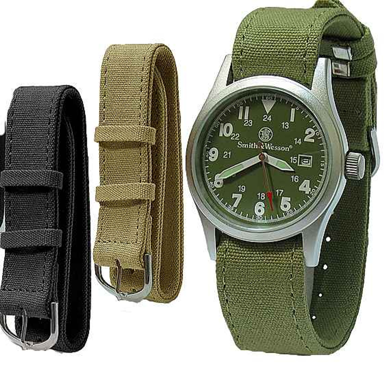 Smith & Wesson Military Watch, OD Green Face