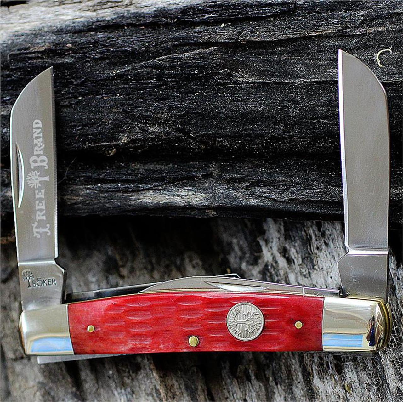 Boker 110745 Traditional Series Congress, Red Jigged Bone Handle