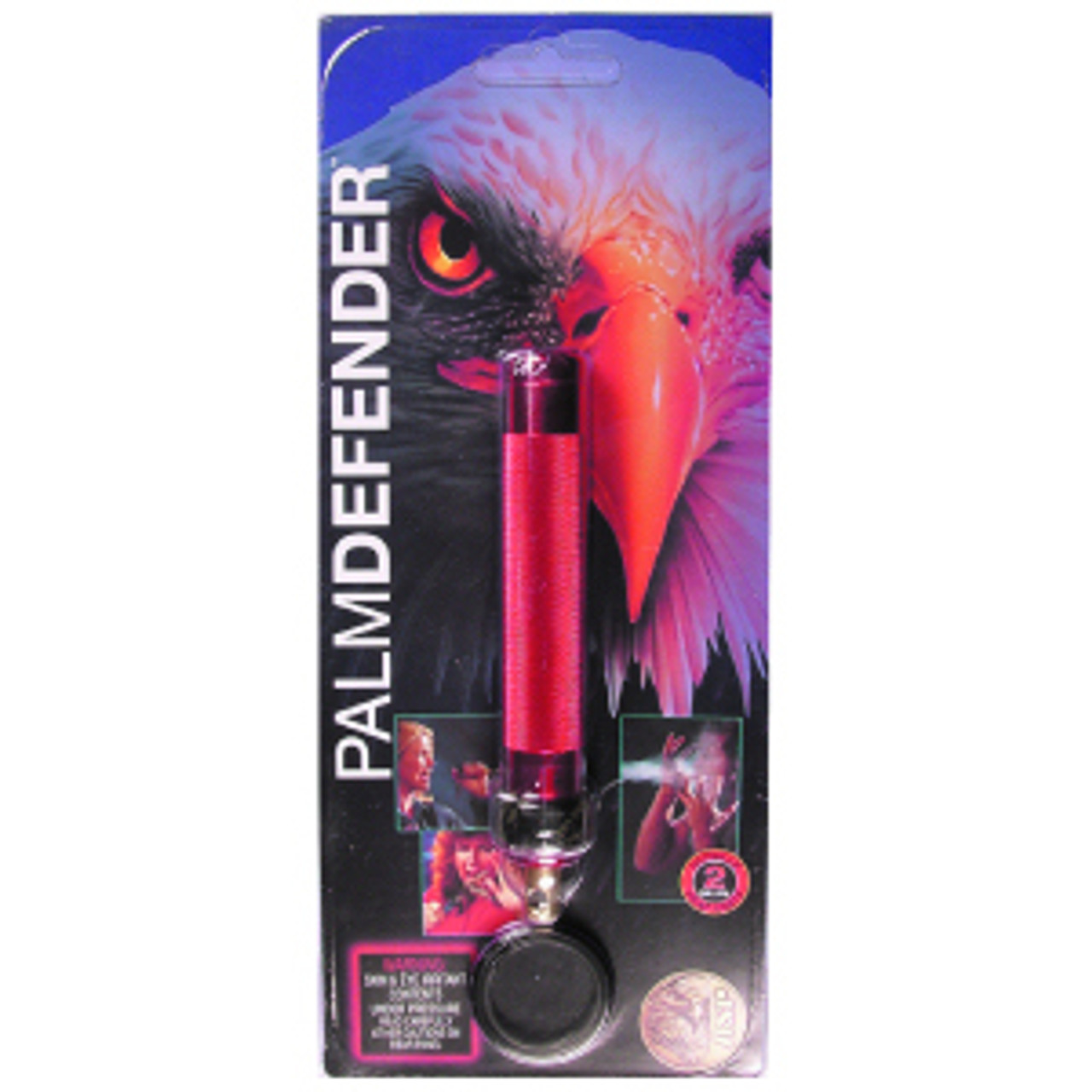 ASP 54953 Palm Defender Aerosol, 6061 T6 Aerospace Aluminum Construction, Red