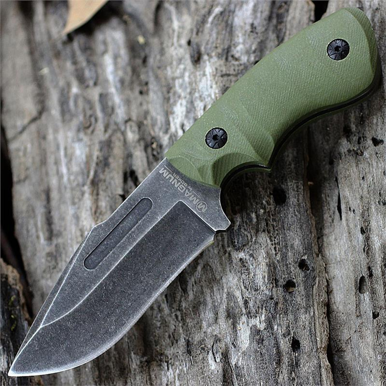 Boker Magnum Lil Giant Fixed Blade with Green G-10 Handle, 02LG113