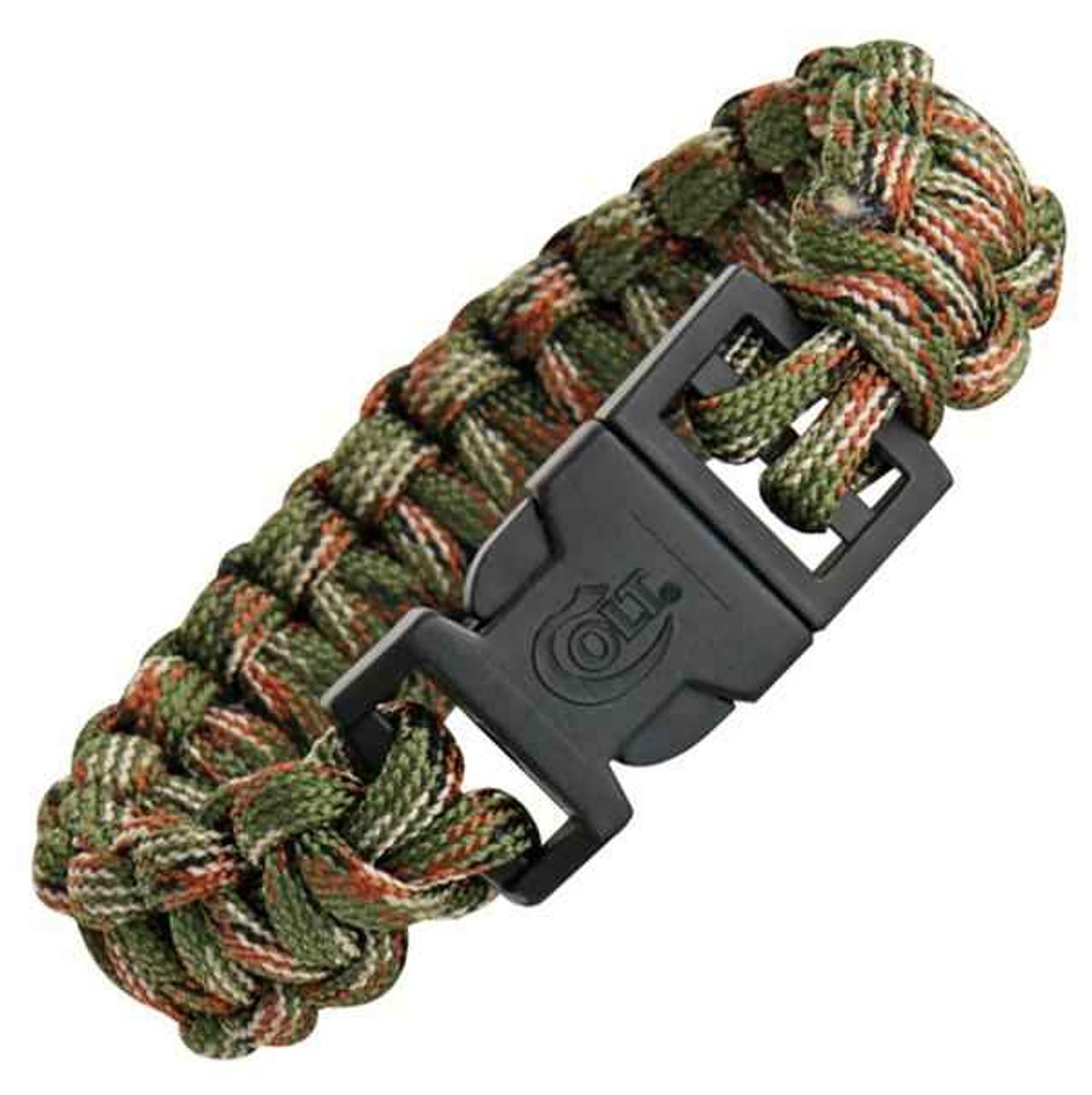 Colt Tactical S.P.E.A.R. Survival Bracelet, Woodland Camo