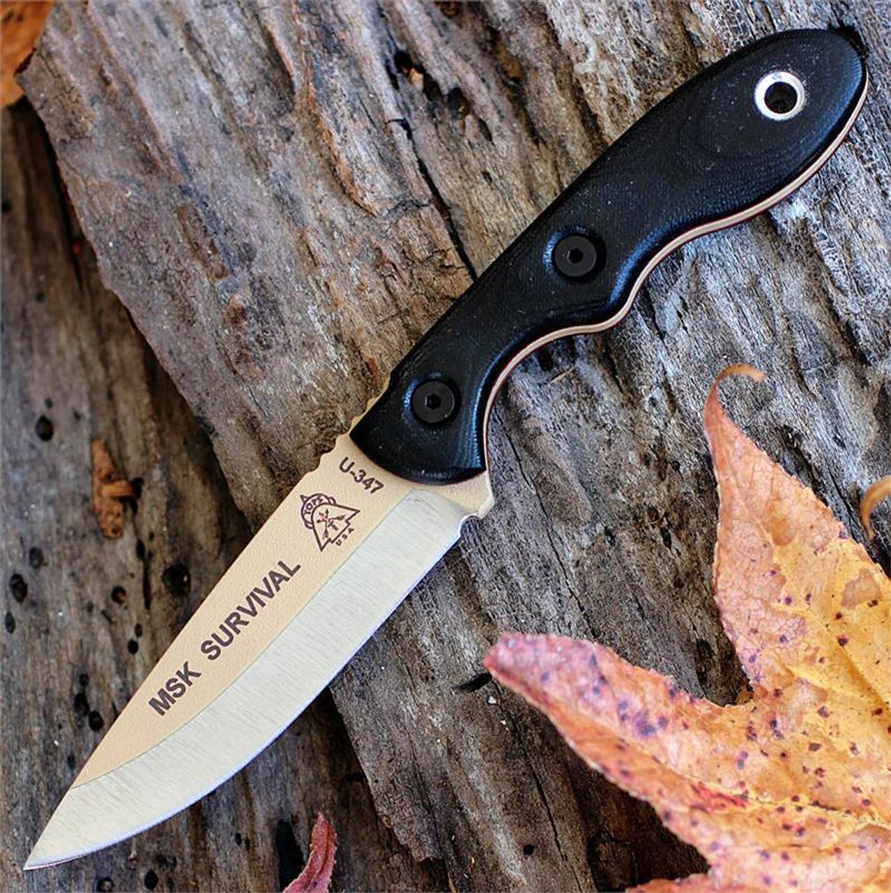 TOPS Knives MSK-SURV Mini Scandi Tan Survival Knife